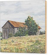 Colored Pencil Barn Wood Print