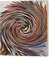 Colored Pencil Rose Wood Print