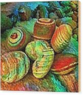 Colored Stones By Rafi Talby   Wood Print