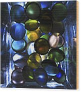 Colored Stones Of Light Wood Print
