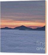 Colored Sunset Wood Print