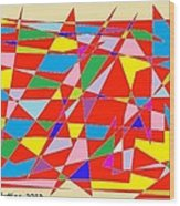 Colored Triangles Wood Print