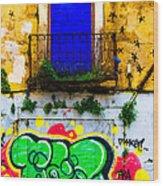 Colored Wall Wood Print