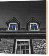 Colored Windows Wood Print