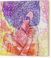 Colored Woman Wood Print by Kenal Louis