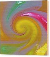 Marble Jelly Swirl Wood Print