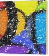 Colorful Abstract 3 Wood Print
