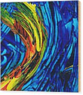 Colorful Abstract Art - Energy Flow 2 - By Sharon Cummings Wood Print