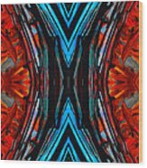 Colorful Abstract Art - Expanding Energy - By Sharon Cummings Wood Print