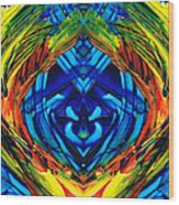 Colorful Abstract Art - Purrfection - By Sharon Cummings Wood Print