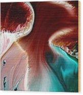Colorful Abstract Art Wavy Road By Kredart Wood Print