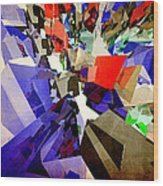 Colorful Abstract Geometric Cluster Wood Print