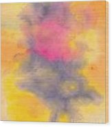 Colorful Abstract Tree At Sunset Wood Print