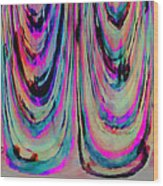 Colorful Abstract W Wood Print