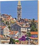 Colorful Adriatic Town Of Losinj Wood Print