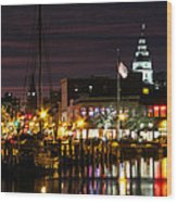 Colorful Annapolis Evening Wood Print