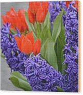 Colorful Arrangement Wood Print