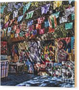 Colorful Art Store In Mexico Wood Print