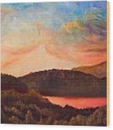 Colorful Autumn Sunset Wood Print