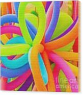 Colorful Balloons Background Wood Print