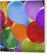 Colorful Balloons Wood Print