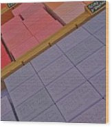 Colorful Bars Soap On Market In Provence Wood Print