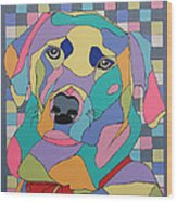 Colorful Dog Bear Wood Print