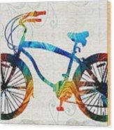 Colorful Bike Art - Free Spirit - By Sharon Cummings Wood Print
