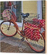 Colorful Bike Wood Print