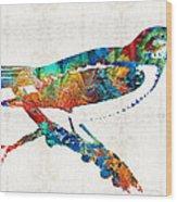 Colorful Bird Art - Sweet Song - By Sharon Cummings Wood Print