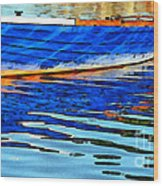 Colorful Boat On The Water Wood Print