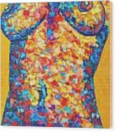Colorful Bodyscape 1 Wood Print