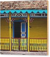 Colorful Building Wood Print