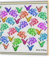 Colorful Butterflies Wood Print