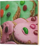 Colorful Candy Faces Wood Print