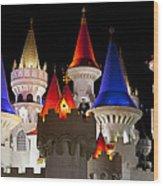 Colorful Castle Wood Print