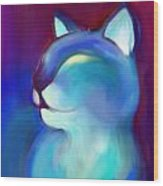 Colorful Cat 3 Wood Print
