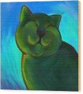 Colorful Cat 4 Wood Print