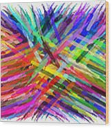 Colorful Cattails Wood Print