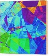 Colorful Chaos Wood Print