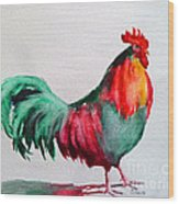 Colorful Chicken Wood Print