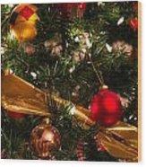 Colorful Christmas Ornaments  Wood Print