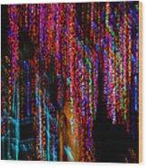 Colorful Christmas Streaks - Abstract Christmas Lights Series Wood Print