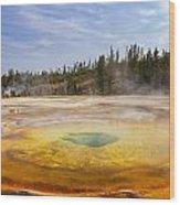 Colorful Chromatic Geyser In Upper Geyser Basin Wood Print