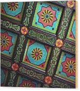 Colorful Church Ceiling Wood Print