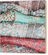 Colorful Cloths Wood Print