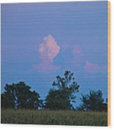 Colorful Cloud Wood Print
