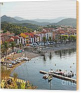 Colorful Collioure Wood Print