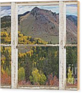 Colorful Colorado Rustic Window View Wood Print by James BO  Insogna