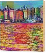 Colorful Coney Island Wood Print